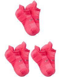 Feetures - High Performance Cushion No Show Socks (medium) - Set Of 3 - Lyst