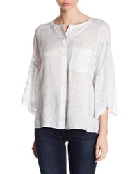 Two By Vince Camuto - Ruffle Bell Sleeve Blouse - Lyst