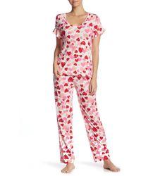 Hue - Hearts 2-piece Pajama Set - Lyst