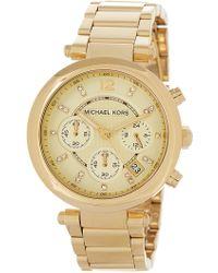 MICHAEL Michael Kors - Women's Gold Dial Watch, 39mm - Lyst