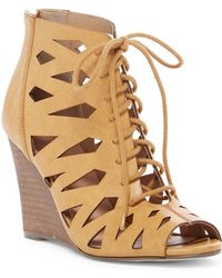 Restricted - Shortcut Lace-up Wedge Sandal - Lyst