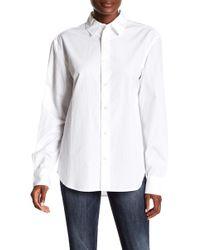 FRAME - Worn-in Button Down Shirt - Lyst