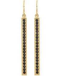 Anna Beck - 18k Gold Plated Sterling Silver Black Onyx Stone Pave Stick Drop Earrings - Lyst