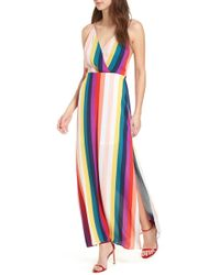 Lush - Surplice Maxi Dress - Lyst