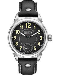 Bulova - Men's Gemini Leather Watch, 12mm - Lyst