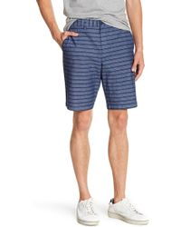 Original Penguin - Straight True Indigo Horizontal Striped Shorts - Lyst