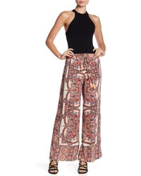 Angie   Flare Print Pant   Lyst