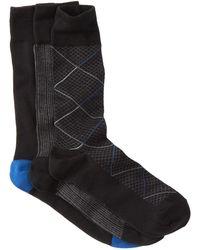 Cole Haan - Modern Diamond Crew Socks - Pack Of 3 - Lyst