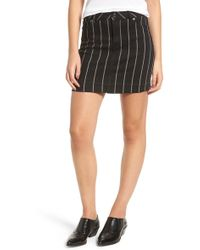 Tinsel - Stripe Denim Miniskirt - Lyst