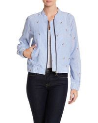 Skies Are Blue - Embroidered Bomber Jacket - Lyst
