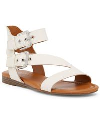 Franco Sarto - Georgina Leather Buckle Strap Sandal - Lyst