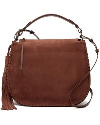 AllSaints - Mori Leather Hobo - Lyst