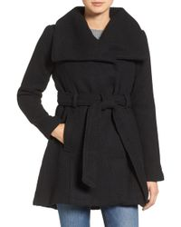 Steve Madden - Belted Waffle Woven Coat - Lyst