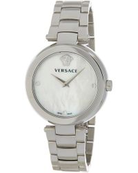 Versace - Stainless Steel Case White Dial Metal Watch, 38mm - Lyst
