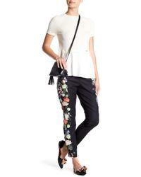 Ted Baker - Kensington Floral Ankle Grazer Pants - Lyst