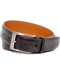 Magnanni - Square Buckle Leather Belt - Lyst