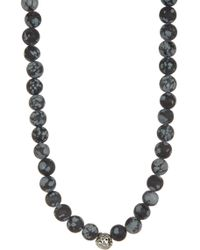 Link Up - Snowflake Obsidian Beaded Necklace - Lyst