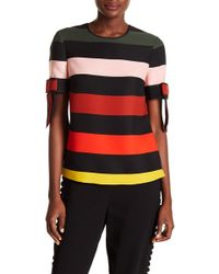 Ted Baker - Cruise Stripe Bow Cuff Top - Lyst