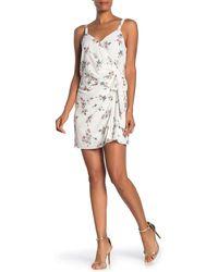 1.STATE - Floral Print Belle Wrap Mini Dress - Lyst