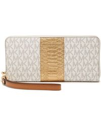 MICHAEL Michael Kors - Signature Coated Leather Phone Wallet - Lyst