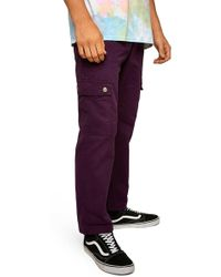 TOPMAN - Straight Fit Cargo Trousers - Lyst