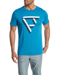 Perry Ellis - Geometric Print Logo Tee - Lyst