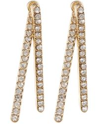 Vince Camuto - Crystal Accented Bar Front To Back Earrings - Lyst