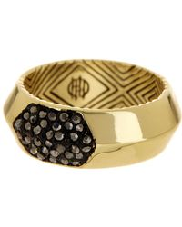 House of Harlow 1960 - Pave Hematite Inset Ring - Size 7 - Lyst