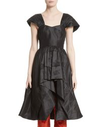 Isa Arfen - Ethereal High/low Silk Taffeta Top - Lyst