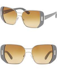 Prada - 54mm Rectangle Sunglasses - Lyst