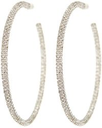 Nadri - Jumbo Micropave 50mm Hoop Earrings - Lyst
