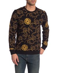 Scotch & Soda - Embroidered Crew Neck Sweater - Lyst