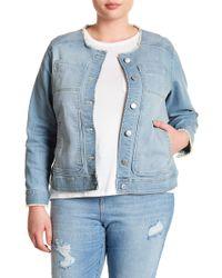 Joe Fresh - Frayed Denim Jacket (plus Size) - Lyst