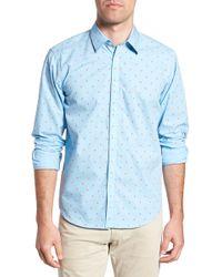 Jeremy Argyle Nyc - Slim Fit Palm Print Sport Shirt - Lyst