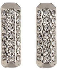 Vince Camuto - Pave Elongated Square Stud Earrings - Lyst