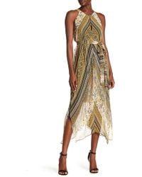 BCBGMAXAZRIA - Sleeveless Print Handkerchief Dress - Lyst