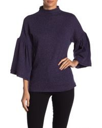 Three Dots - Donegal Ruffle Sleeve Sweater - Lyst