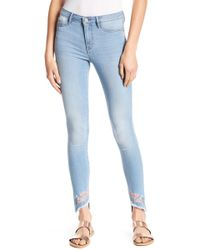William Rast - Floral Embroidered Sculpted Jeans - Lyst