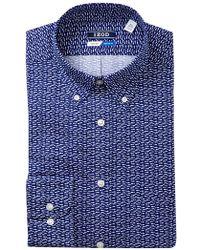 Izod - Fish Pattern Regular Fit Dress Shirt - Lyst