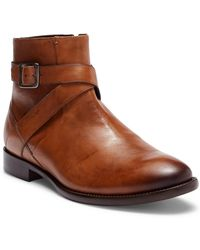 Bacco Bucci - Violo Mid Buckle Leather Boot - Lyst