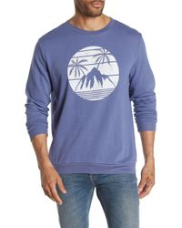 d4bbc0c57 AMI Tropical Floralprint Sweatshirt in White for Men - Lyst