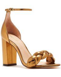 Rachel Zoe - Ashton City Leather Block Heel Sandal - Lyst