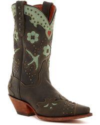 Dingo - Wild Bird Leather Cowboy Boot - Lyst