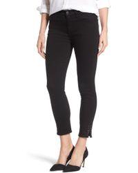 Jen7 - Embellished Side Slit Skinny Ankle Jeans - Lyst
