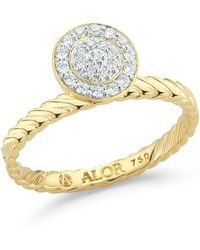 Alor - 18k Yellow Gold Diamond Ring - Size 7 - 0.16 Ctw - Lyst