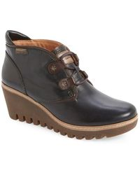 Pikolinos - Maple Leather Wedge Boots - Lyst