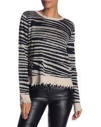 Fate - Distressed Leopard Print Sweater - Lyst