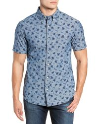 c59a38865c6 Lyst - Reyn Spooner  halu a Batik  Trim Fit Sport Shirt in Blue for Men