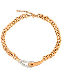 Swarovski - 18k Gold Plated Crystal Medium Necklace - Lyst