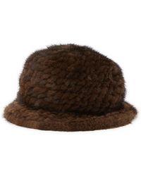 Surell - Genuine Mink Cloche Knit Hat - Lyst